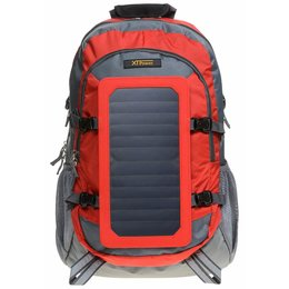 SP507BL 6.5 W Solar Backpack in grey red - Sports...