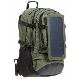 SP607GR 6.5 W Solar Backpack in green - Hiking...