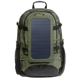 SP607GR 6.5 W Solar Backpack in green - Hiking backpack...